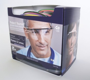 TIDI Products - Resposable oogbescherming - Combo Lens & Frame Pack - 9209