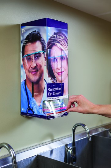 TIDI Products Grab 'n Go™ Eye Shields - resposable oogbescherming - Reeds geassembleerde brillen verpakking. - 9210A-100