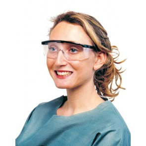 Design veiligheidsbril UV met zwart frame - LPC-50