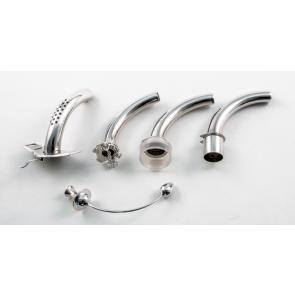 Zilveren Tracheacanule set Labarre - 5 delig: Buitencanule, 15 mm, 22 mm, spreekklep en obturator