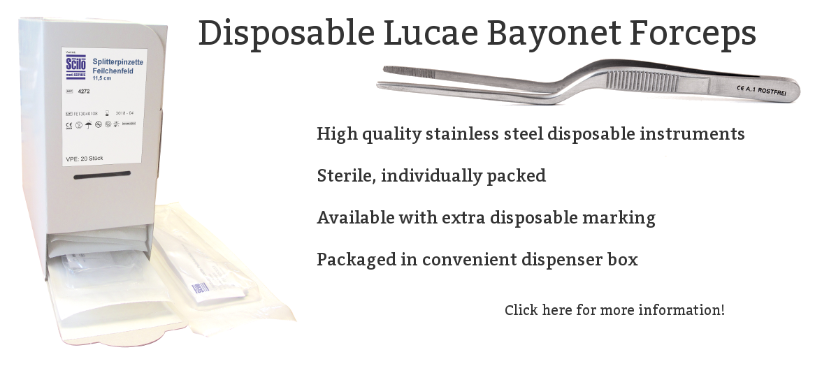 Disposable Bayonet Pincet Luceau medicaldisposablesstore